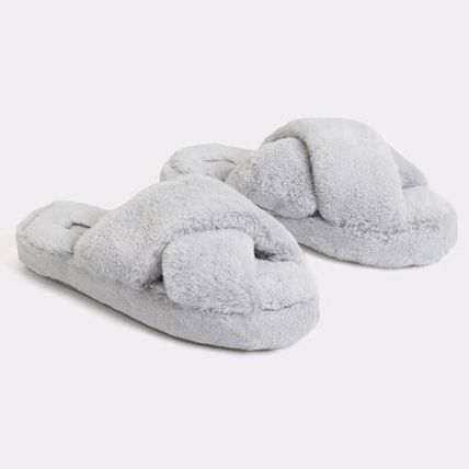 Platform Casual Style Plain Slippers Shoes