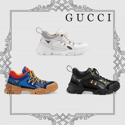 07320f8de38 GUCCI 2018-19AW Unisex Street Style Leather Sneakers (543149 GGZ80 ...