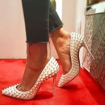 Christian Louboutin Other Check Patterns Enamel Studded Pin Heels Elegant Style