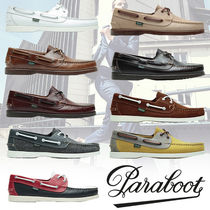 Paraboot Plain Leather U Tips Deck Shoes Loafers & Slip-ons