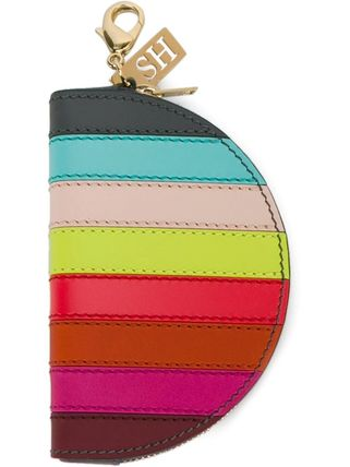 Stripes Leather Coin Purses