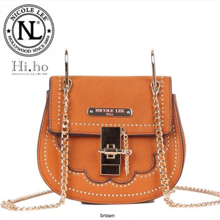 Casual Style Chain Shoulder Bags