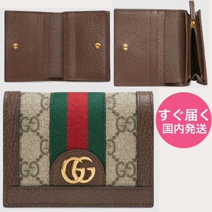 big sale b416b 64bd5 GUCCI Ophidia 2018-19AW Leather Folding Wallets