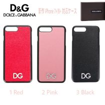 Dolce & Gabbana Blended Fabrics Plain Leather With Jewels Smart Phone Cases