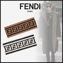 FENDI Monoglam Wool Street Style Accessories