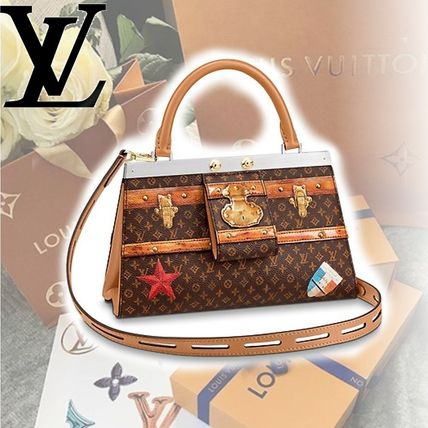 Louis Vuitton Handbags Monogram 2WAY Leather Handbags