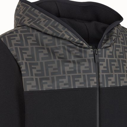 FENDI Hoodies Monogram Blended Fabrics Street Style Long Sleeves Cotton 4