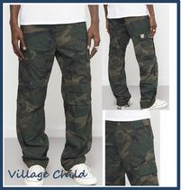 Carhartt Camouflage Street Style Cotton Cargo Pants