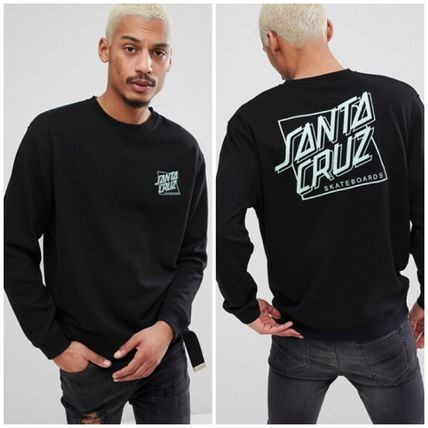 Crew Neck Sweat Street Style Long Sleeves Sweatshirts