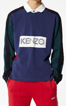 KENZO Long Sleeves Cotton Polos