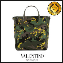 VALENTINO Star Camouflage Totes