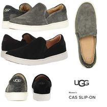 UGG Australia Moccasin Round Toe Rubber Sole Suede Plain Slip-On Shoes