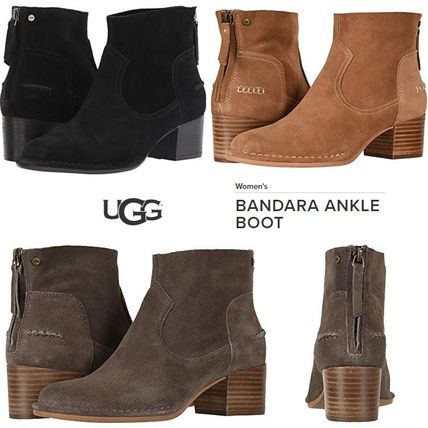 UGG Australia Ankle & Booties Plain Toe Suede Plain Block Heels Ankle & Booties Boots