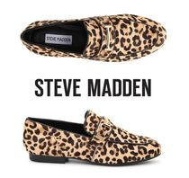 Steve Madden Leopard Patterns Plain Toe Casual Style Spawn Skin