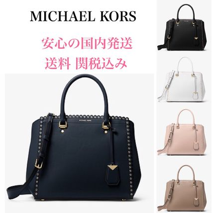 7a83fb2292041f ... where can i buy michael kors handbags casual style 2way plain leather  handbags d57bf 249f5