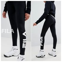 FILA Street Style Plain Cotton Leggings Pants