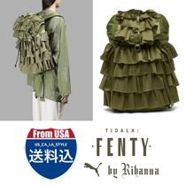 PUMA FENTY Casual Style Unisex Street Style Collaboration A4 Backpacks