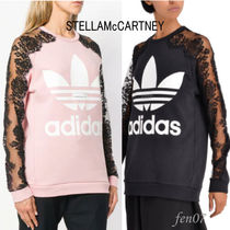 Stella McCartney Crew Neck Flower Patterns Blended Fabrics Collaboration
