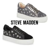 Steve Madden Star Casual Style Faux Fur Low-Top Sneakers