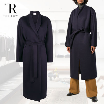 Blended Fabrics Street Style Plain Long Oversized