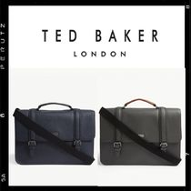 TED BAKER A4 2WAY Bi-color Plain Leather Business & Briefcases