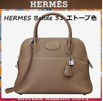 HERMES Bolide Leather Elegant Style Handbags
