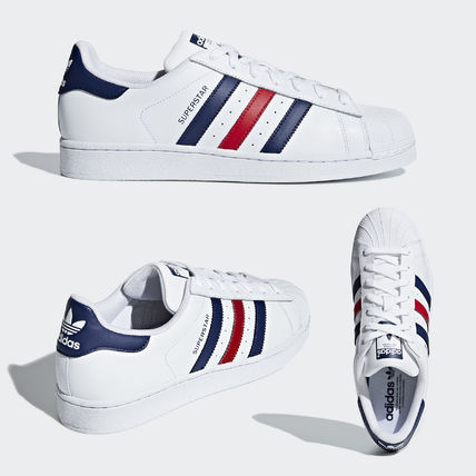 adidas SUPERSTAR 2018-19AW Unisex Leather Low-Top Sneakers (F36583 ... c845608a5990