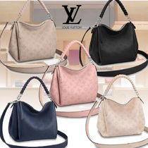 Louis Vuitton MAHINA Monogram Leather Elegant Style Handbags
