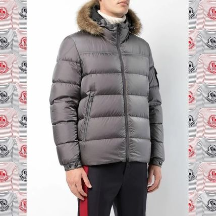 ... MONCLER Down Jackets Short Fur Blended Fabrics Plain Down Jackets ...