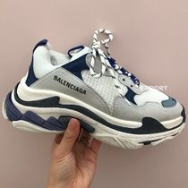 BALENCIAGA Triple S Casual Style Unisex Street Style Low-Top Sneakers