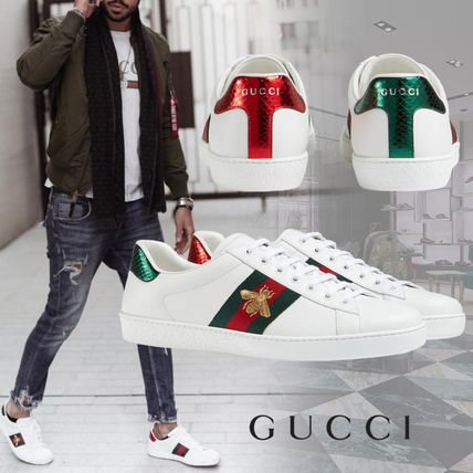 GUCCI Sneakers Street Style Leather Sneakers