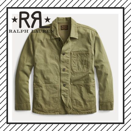 Short Plain Khaki Jackets