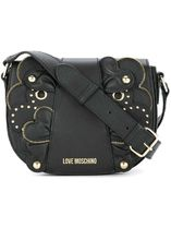 Moschino Studded Street Style Leather Elegant Style Shoulder Bags