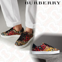 Burberry Other Check Patterns Plain Toe Casual Style Unisex