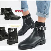ASOS Casual Style Faux Fur Studded Chelsea Boots