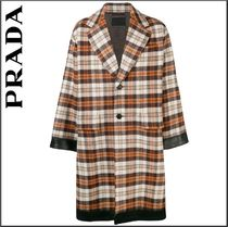 PRADA Other Check Patterns Long Oversized Chester Coats