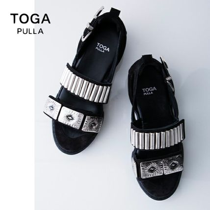 Round Toe Rubber Sole Collaboration Sandals