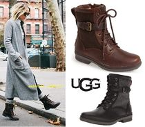 UGG Australia Round Toe Rubber Sole Casual Style Blended Fabrics Plain