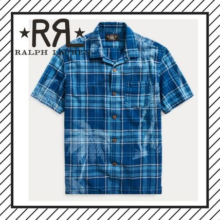 Tropical Patterns Cotton Short Sleeves Shirts