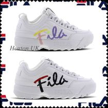 FILA Platform Plain Toe Casual Style Street Style Bi-color Plain