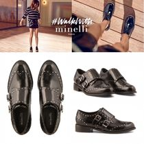 minelli Plain Leather Loafer & Moccasin Shoes
