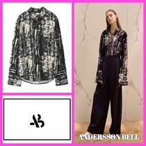 ANDERSSON BELL Camouflage Chiffon Medium Oversized Elegant Style