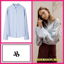 ANDERSSON BELL Casual Style Plain Cotton Medium Super-long Sleeves