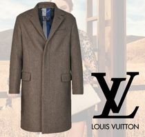 Louis Vuitton Wool Plain Long Chester Coats