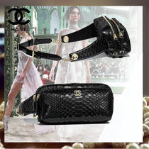 CHANEL Casual Style Lambskin Street Style Chain Python