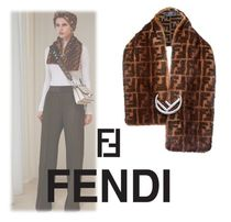 FENDI Monogram Elegant Style Detachable Collars