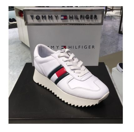 879f192d95b ... Sneakers 7 Tommy Hilfiger Platform   Wedge Platform Plain Leather  Platform   Wedge ...