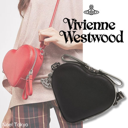 Heart Leather Party Style Shoulder Bags