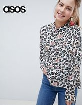 ASOS Leopard Patterns Casual Style Long Sleeves Shirts & Blouses