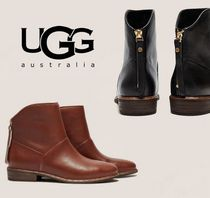 UGG Australia Plain Toe Casual Style Plain Leather Ankle & Booties Boots